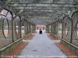 Walled Garden Arbor Walkway