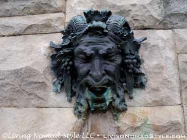 Water Fountain Face Sculpture