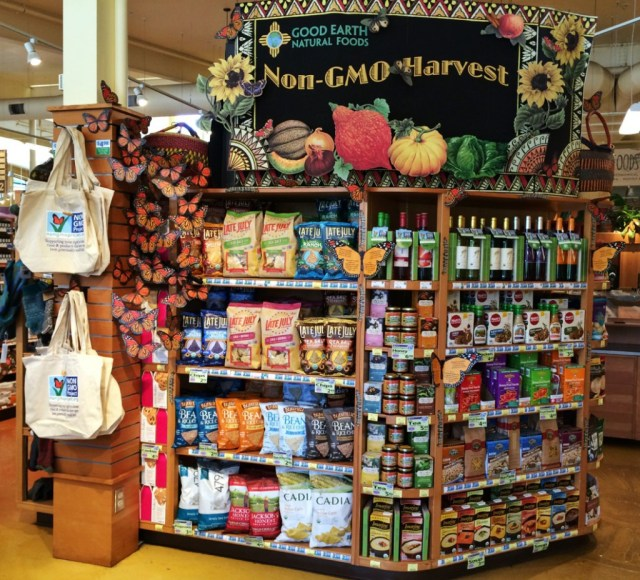Good Earth Non-GMO Month Display