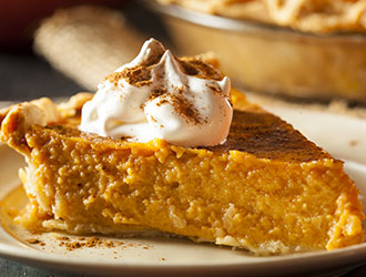 Thanksgiving non-GMO pumpkin pie