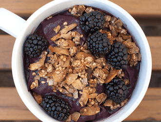 Nut Butter and Berry Breakfast Bowl