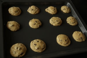 Chocolate Chip Cookies out of oven