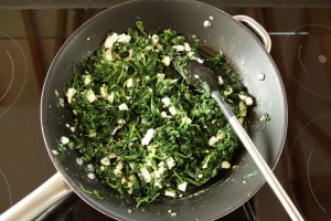 spinach & feta filling