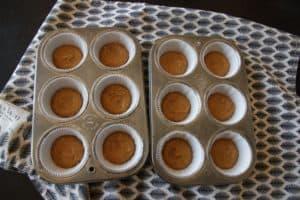 Pumpkin Cheesecake Muffins ~ Living on Cookies