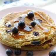Heidelbeer-Buttermilch Pancakes