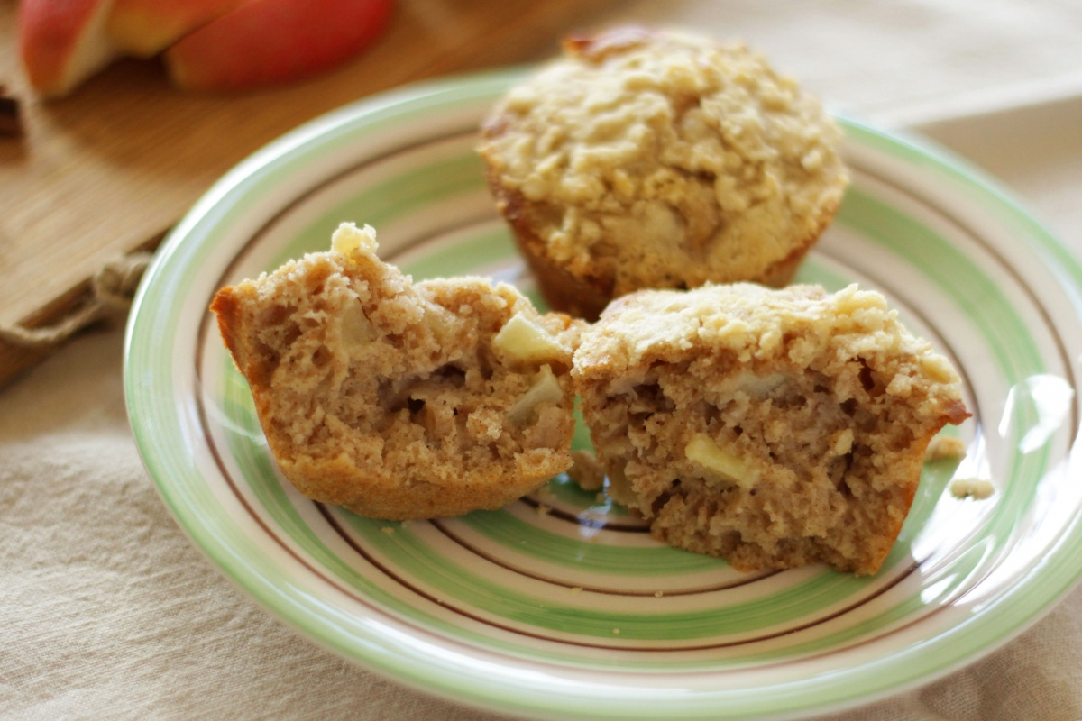 Apple Spice Muffins with Streusel Topping ~ Living on Cookies