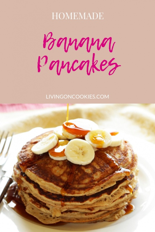 Pancakes like banana bread! Soft & fluffy and so good! Try the recipe now!