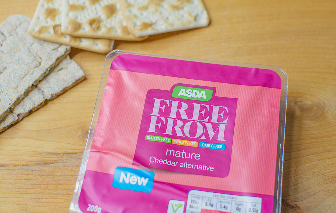 the best dairy free cheese vegan asda free from mature cheddar alternative