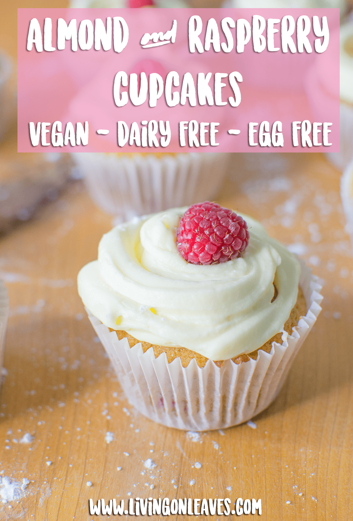 raspberry and almond vegan cupcakes recipe