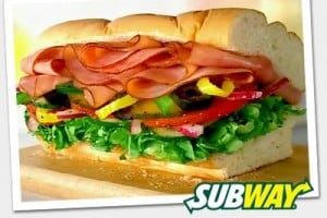 Get any Footlong for $6 at SUBWAY