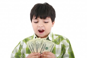 boy with money 300x200