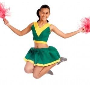 Jump for joy with this easy cheerleading costume. Photo by Stuart Miles, freedigitalphoto.net.