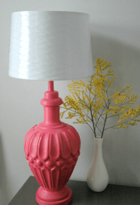spray paint lamp