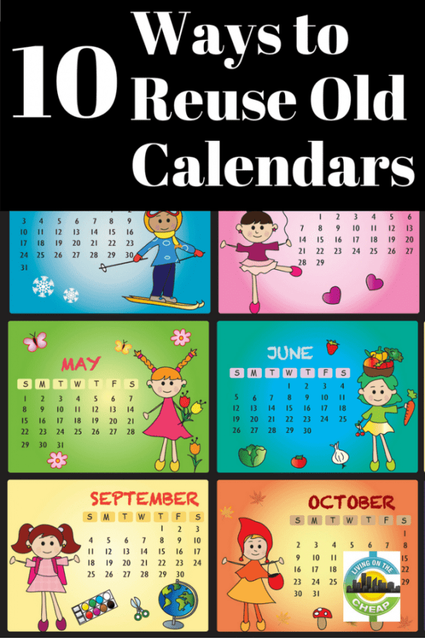 10 ways to reuse and recycle old calendars living on the for How to reuse old books
