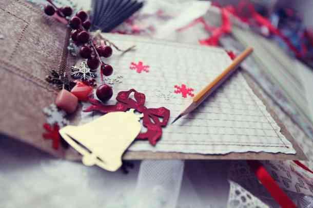Christmas cards scrapbooking