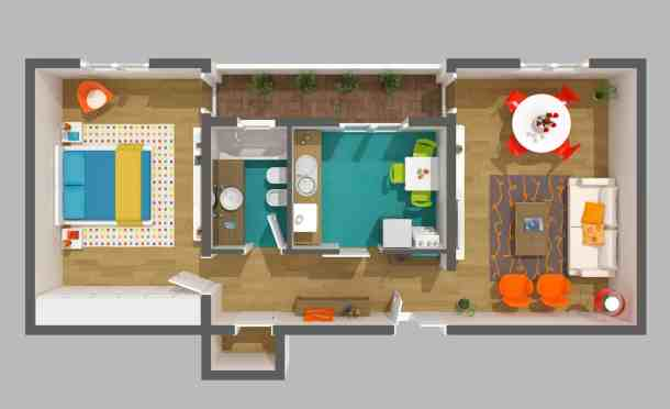 Interior design - 3d home project apartment floor plan