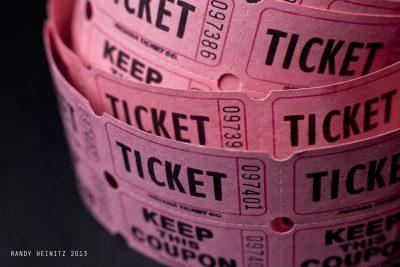 Raffle tickets by Randy Heinitz licensed under CC2