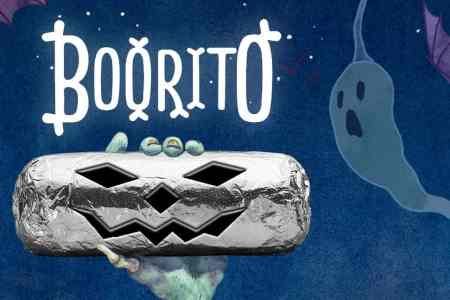 $3 'Boo-rito' at Chipotle Halloween night