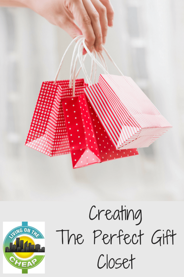 Creating a gift closet has many benefits. You save money and time. And you never have to wonder what you will buy again