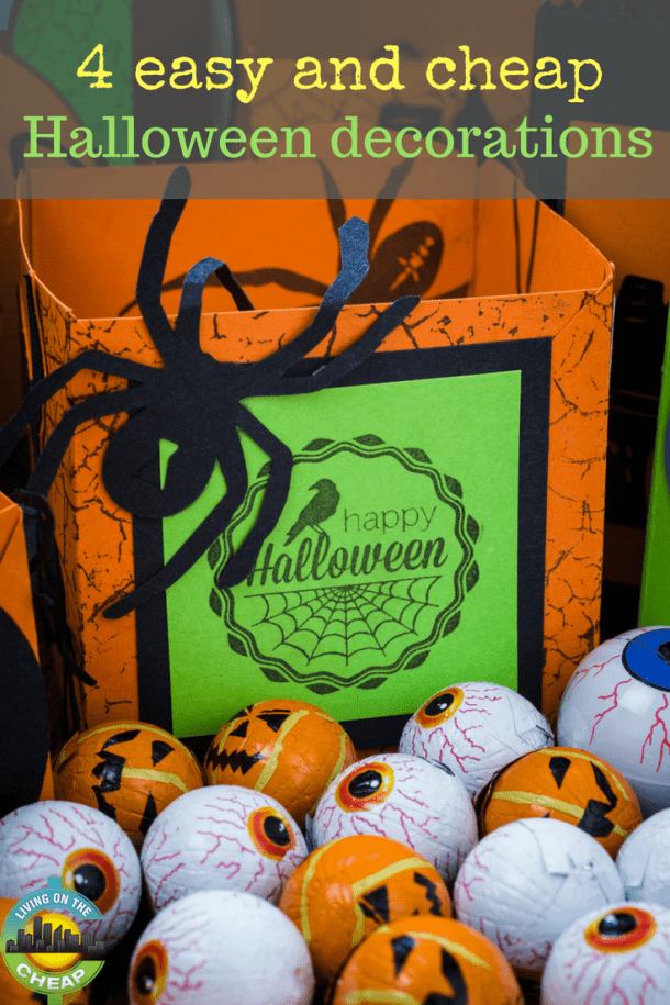 4 easy and cheap halloween decorations living on the cheap - Easy and cheap halloween decorations ...