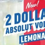 Applebee's: $2 Absolut vodka lemonade every day in March