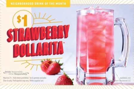 Applebee's serves $1 strawberry margaritas in August