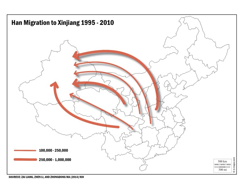 Over the past two decades Xinjiang has become one of the primary destinations of internal Han migration