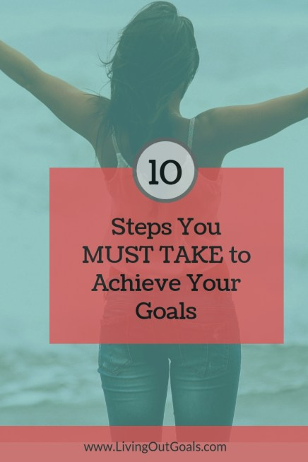 actions to take to achieve goal