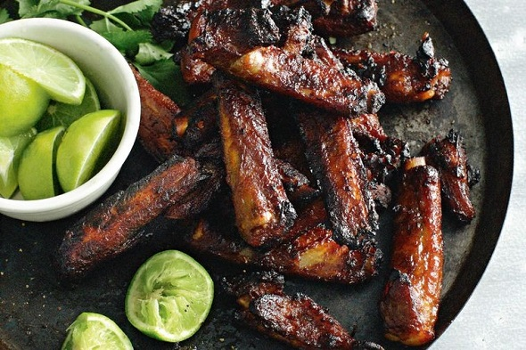 Pork Belly Ribs With Ginger
