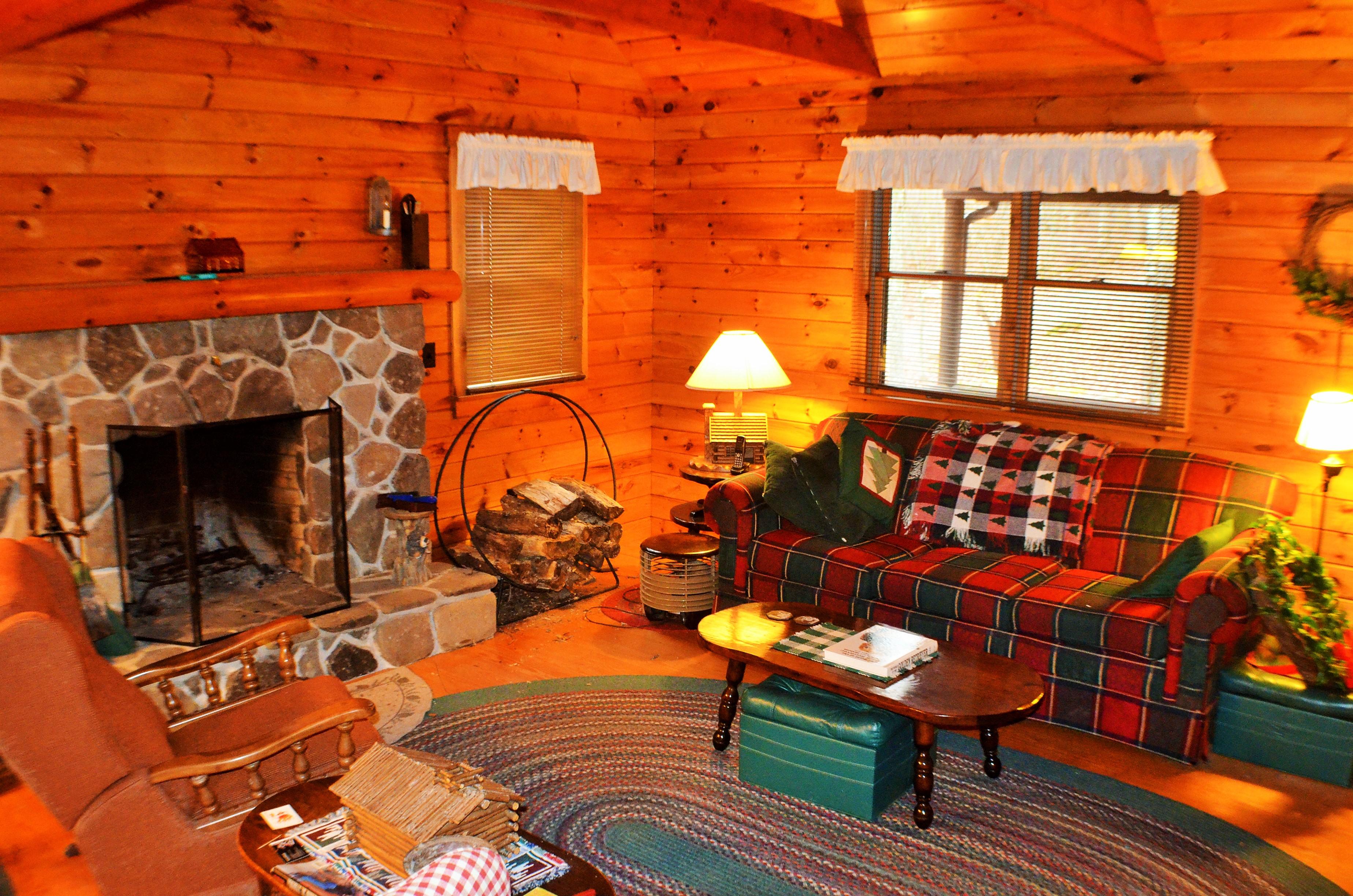 log cabin living room decorating ideas black couch images creekside in the poconos pocono cozy