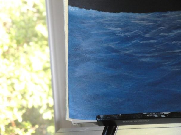 Zale's Tales children's book artwork - ocean surface