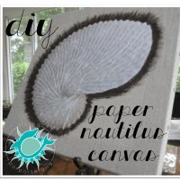 DIY Paper Nautilus Canvas Art