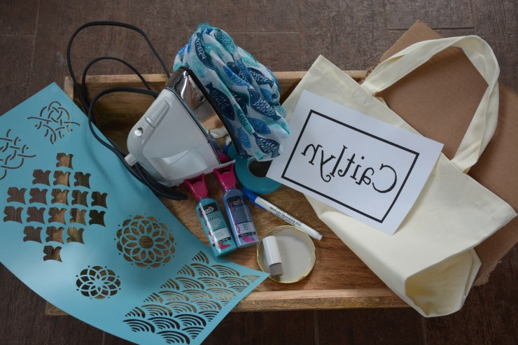 fish scale tote bag supplies