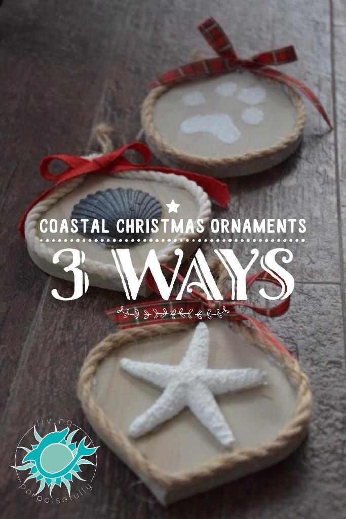 DIY Coastal Christmas Ornaments 3 Ways