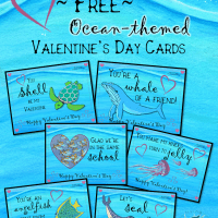 Ocean Valentine's Day Greetings (Freebie!)