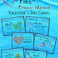 Ocean Valentine's Day Greetings (Freebie!)