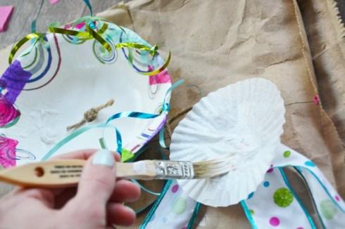 Step 4 Jellyfish Craft Kit - glue on cupcake liner 1
