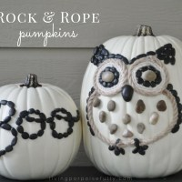 DIY Rock & Rope Pumpkins