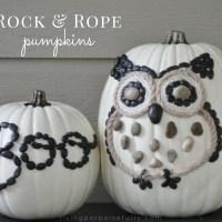 DIY Rock & Rope Pumpkins