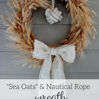 """Sea Oats"" & Nautical Rope Wreath"