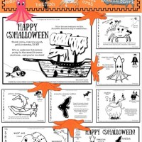 FREE Printable (Undersea) Halloween Coloring Sheets
