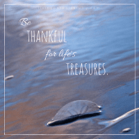 Be Thankful for Life's Treasures