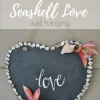 DIY Seashell Love Wall Hanging
