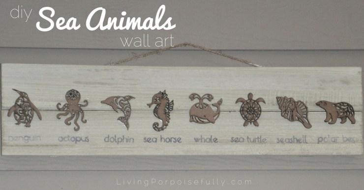 diy Sea Animals wall art