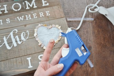 diy coastal rustic wood plaque craft STEP 4b