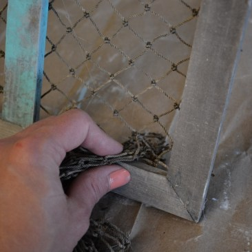 fishing net frame diy 7