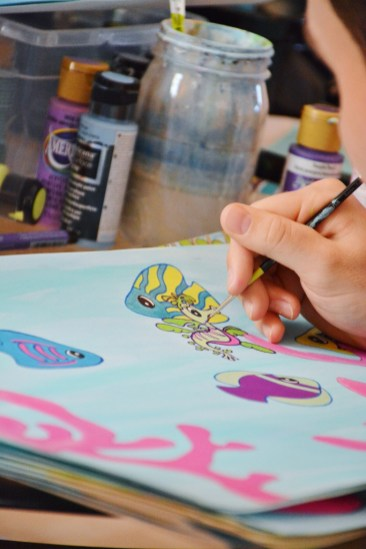 Mira the Misfit Sea Dragon illustrating Everett Taylor