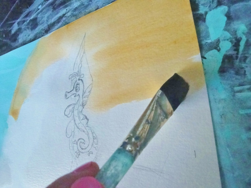 Mira the Misfit Sea Dragon - illustrating by Everett Taylor 4 (800x600)