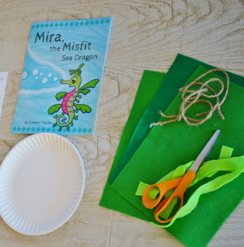 paper plate and felt wreath seahorse sea dragon & Mira the Misfit Sea Dragon Wreath Craft for Kids \u2013 Living Porpoisefully