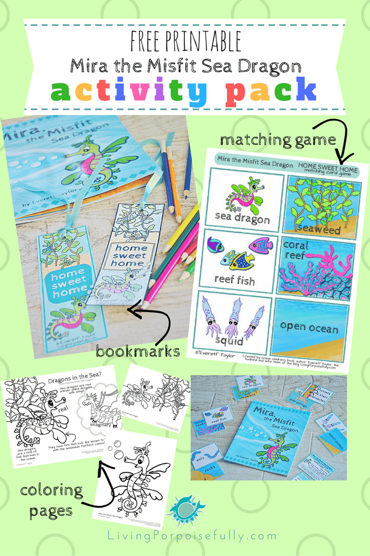 Mira, the Misfit Sea Dragon Printable Activity Pack (free!)